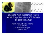 Choosing from the Horn of Plenty: What Drugs Should my ACS ...