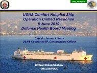 USNS Comfort Hospital Ship Operation Unified ... - Health.mil