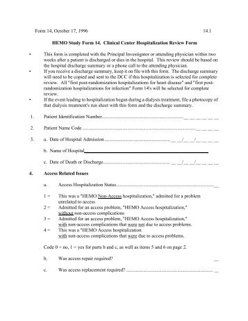 30 Day Readmission Chart Review Form - CFMC