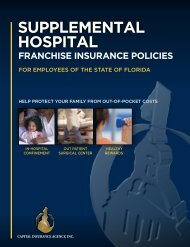 Cigna Health and Life Insurance Company (CHLIC ... - MyFlorida.com