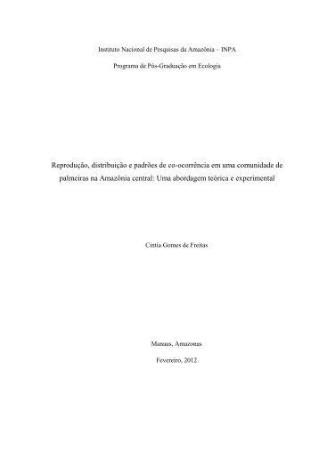 Instituto Nacional de Pesquisas da Amazônia – INPA - PPBio - Inpa