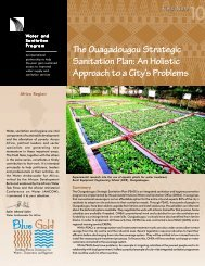 The Ouagadougou Strategic Sanitation Plan: An Holistic ... - WSP