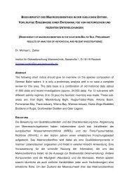 Biodiversität und Checkliste des Makrozoobenthos der ... - IOW