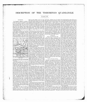 DESCRIPTION OF THE TISHOMINGO QUADRANGLE