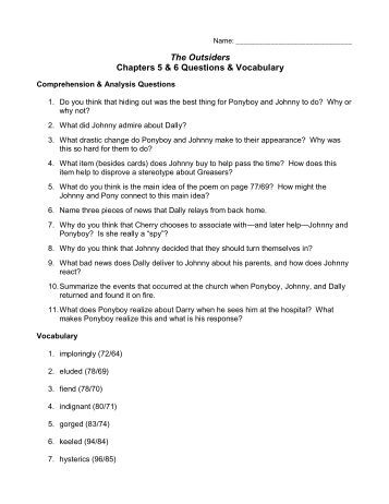 the outsiders study questions