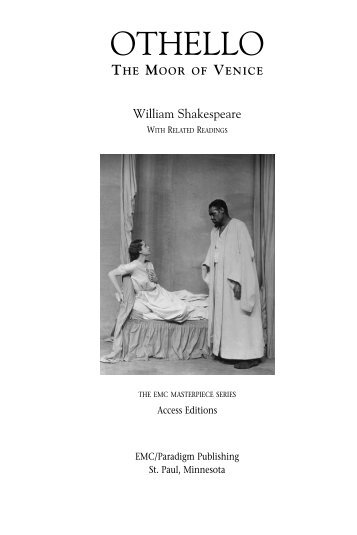 an analysis of syntax and repetition in william shakespeares othello