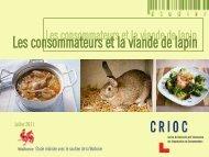 Les consommateurs et la viande de lapin - Crioc