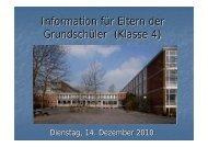 Information für Eltern der Grundschüler - Hannah-Arendt-Gymnasium