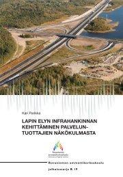 lapin elyn infrahankinnan kehittäminen palvelun - Rovaniemen ...