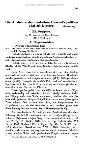 Die Ausbeute der deutschen Chaco-Expedition