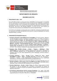 Informe - Ministerio de Transportes y Comunicaciones