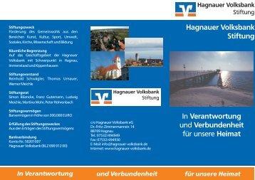 Flyer mit weiteren Informationen zur Hagnauer Volksbank Stiftung