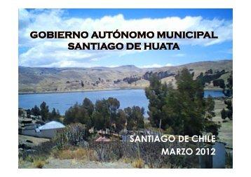 Gobierno Autónomo Municipal Santiago de Huata. Sra. Blanca