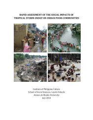 rapid assessment of the social impacts of - Philippines Development ...