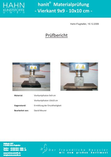 hanit Materialprüfung - Hahn Kunststoffe GmbH
