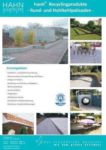 Produktflyer Palisaden - Hahn Kunststoffe GmbH