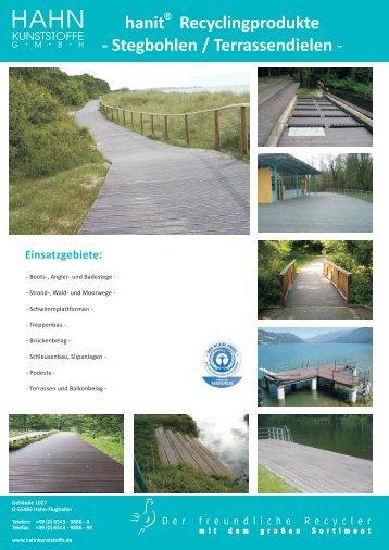 Stegbohlen / Terrassendielen - Hahn Kunststoffe GmbH