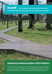 Spezialprospekt Kabelkanal-Abdeckplatten - Hahn Kunststoffe GmbH