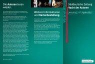 Autoren - Süddeutsche Zeitung Veranstaltungen