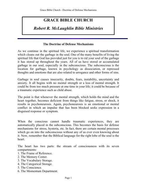 Download Pdf Robert Mclaughlin Bible Ministries Grace Bible