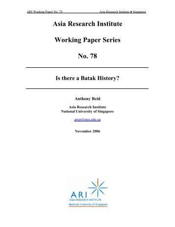 asia research institute working paper series The adb economics working paper series is a forum for stimulating discussion and eliciting feedback on ongoing and recently completed research and policy studies.