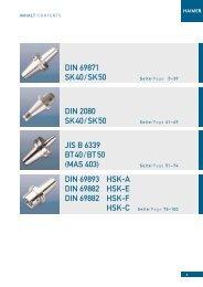 DIN 69871 SK40/SK50 DIN 2080 SK40/SK50 JIS B ... - Haimer USA