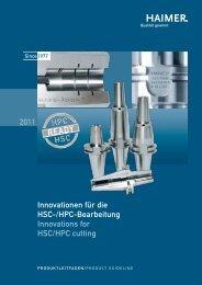 Innovationen für die HSC-/HPC-Bearbeitung ... - Haimer GmbH
