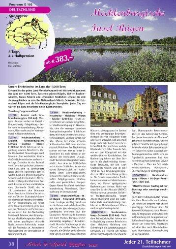 Mecklenburgische Seenplatte - Schau ins Land Hain GmbH