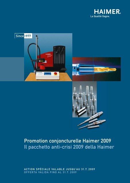 Promotion conjoncturelle Haimer 2009 Il pacchetto anti-crisi  2009 ...