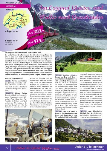Original Glacier- und Bernina-Express