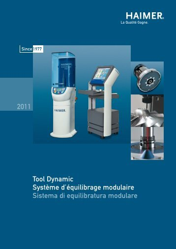 Tool Dynamic Système d'équilibrage modulaire Sistema di ...