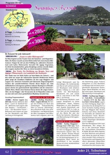 Lugano im sonnigen Tessin - Schau ins Land Hain GmbH