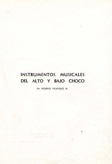 INSTRUMENTOS MUSICALES DEL ALTO y BAJO CHOCO