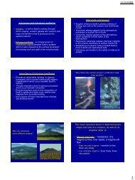 Volcanoes and Intrusive Landforms