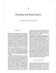 Branding and Brand Equity, Kevin Lane Keller