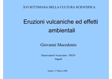 Eruzioni vulcaniche ed effetti ambientali