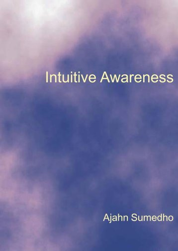 Intuitive Awareness Ajahn Sumedho - Urban Dharma