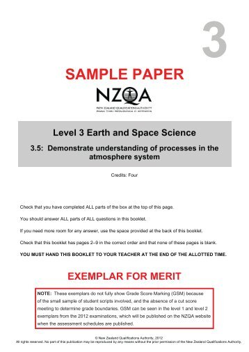 91414 Sample Merit Exemplar - NZQA