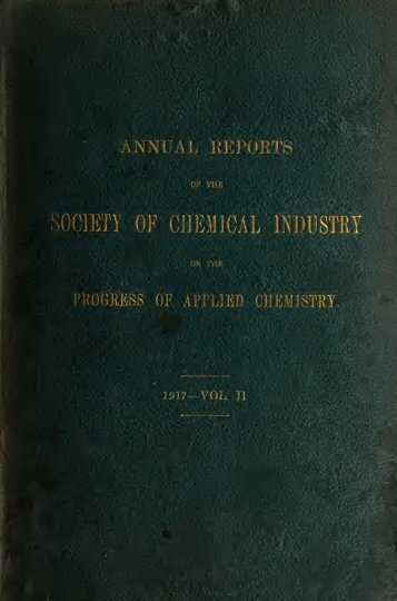 Reports of the progress of applied chemistry