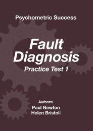 Fault Diagnosis Practice Test 1 - Psychometric Success