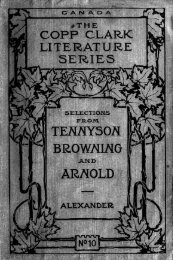 Select poems : prescribed for the junior matriculation, and for ...