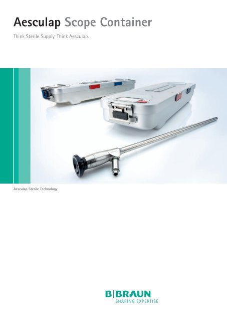 Aesculap Scope Container - Aesculap Endoscopic Technology