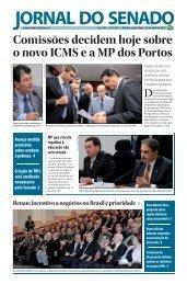 Comissões decidem hoje sobre o novo ICMS e a MP dos Portos