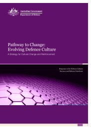 Pathway to Change: Evolving Defence Culture - Department of ...