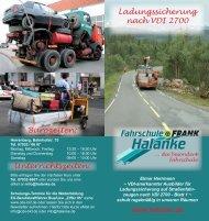 Ladungssicherung nach VDI 2700