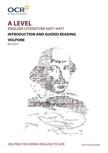 Volpone - Ben Jonson - Introduction and guided - OCR