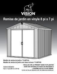 Remise de jardin en vinyle 8 pi x 7 pi Guide d ... - Vision Extrusions