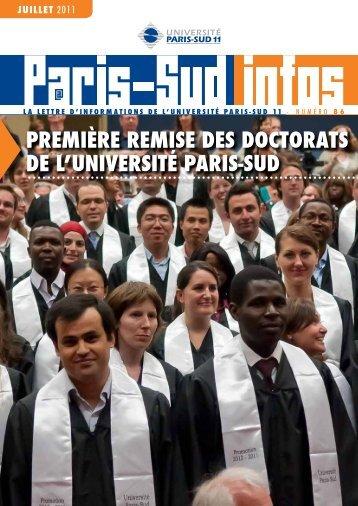 PREMIèRE REMISE DES DOCTORATS DE L'UNIVERSITÉ PARIS ...