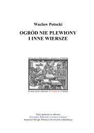 Wacław Potocki - Ogród nie plewiony i inne wiersze