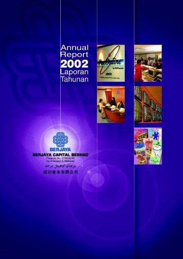 annual repor t 2002 laporan t ahunan berja ya capit al berhad
